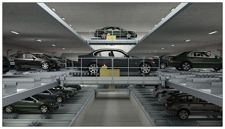 PLC Computer Control Car Parking System Underground Parking Basement Garage  Design for sale  Conveyor Robtic Parking System manufacturer from china ...