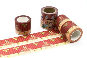 China Decorative Paper Crafts 15mm*10m Christmas Washi Tape on sale