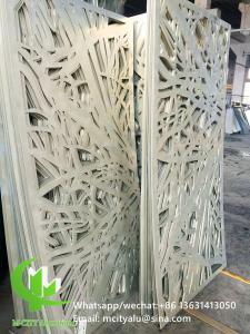 Metal aluminum engraving screen panel laser cutting facade panel