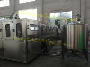 China Mineral / Purified 5 Gallon Water Filling Machine PLC Control For 19 Liter 20 Liter on sale