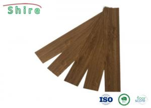 China Easy Installation Click Luxury Vinyl Tile Flooring 4MM Wood Color UV Coating Surface on sale