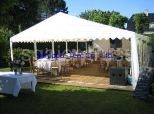 China Wedding marquee tent durable and designed in unique way 15m or 20m span on sale