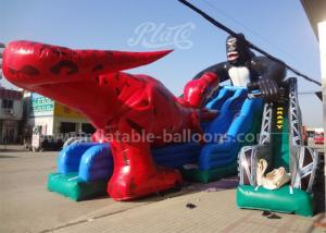 China 15mL Giant Dinosaur Inflatable Slide , King Kong Water Slide Park For Adults on sale