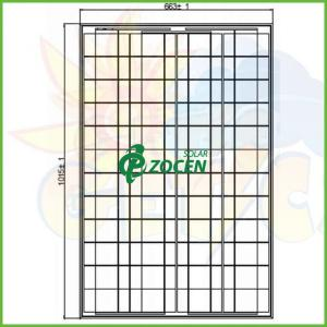 China Industrial 90W Mono PV Custom Solar Panels With High Transmittance PV Glass on sale