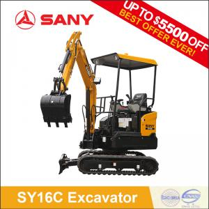 SANY SY16C 1 6 ton Mini Excavator Micro Excavator For Sale Crawler