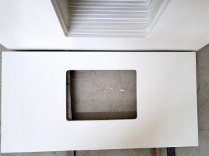 China Engineered Quartz Bathroom Vanity Tops Less 0.01% Water Absorption on sale