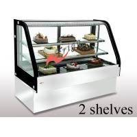 Curved Cold Bakery Food Display Showcase Orchid Cake Showcase Tempered Glass