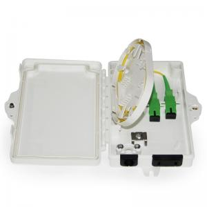 China TWO Core Mini FTB Fiber Optic Termination Box for Feeder Cable to Connect with Drop Cable Double-layer on sale