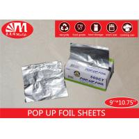 China Piece Shape Aluminium Pop Up Foil Sheets 9 Inch  X 10.75 Inch Non Stick Easy For Use on sale