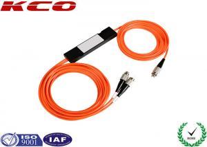 China LC SC FC Multimode Fused 1x2 Fiber Optic Splitter MM FBT Coupler on sale