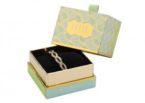 China Logo printed Fancy Jewelry Box With Earring Storage , Little Ladies Watch Jewelry Box on sale