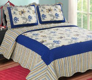 Printed Embroidery Bedroom Beautiful Comforter Sets With Frame For