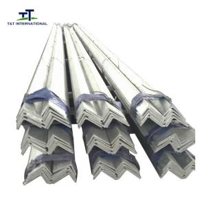 China Antirusted Painting Galvanized Steel Angle Cut Ro Size High Tensile Strength on sale