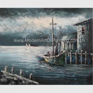 China Contemporary Fishing Boat Painting At Sea  / Sailing Ship Paintings Prints on sale