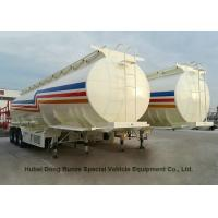 Liquid Flammable Gasoline Tanker  Semi Trailer 3 Axles For Diesel ,Oil , Kerosene 45000Liters Transport