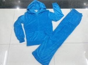China wholesale 9,500 sets Juicy Couture Women sport velvet Suit、cheap price Yoga tracksuit on sale