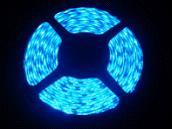 China High brightness SMD 3528 5m / reel IP68 blue flexible LED strip lights Ce & RoHs approval on sale