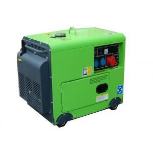 China cuivre portatif silencieux diesel de la couleur verte 100% du générateur 4.5kw 1 phase on sale