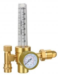 China Compact Design Compressed Gas Pressure Regulator With Flow Meter Easy Installation on sale