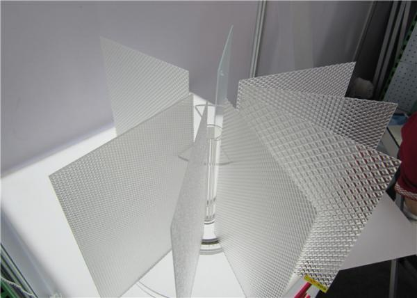 Square Clear Polystyrene Prismatic Lighting Diffuser Sheet