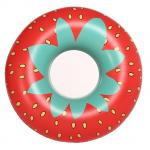 Giant Strawberry Inflatable Swim Ring / 45 Inch Inflatable Pool Floats with Rapid Valves