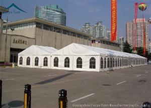 China 500 barracas brancas da exposição do telhado do PVC dos povos com Windows claro on sale