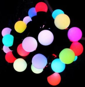 China Holiday 5M 50led Fairy Full color LED Ball String Lighting waterproof on sale