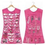 Crochet de cintre de robe d'entreposage en poche de support d'organisateur d'affichage de cabinet de broche de bijoux