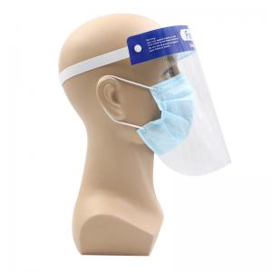 China Polymer Medical Protective Face Shield Elastic Headband With Foam Disposable Use on sale