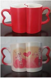 China Sublimation Full color Changing Lover's Red Mug on sale