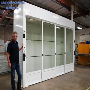 China China Laboratory chemical Laminar flow walk in fume hood cabinet for sale price on sale