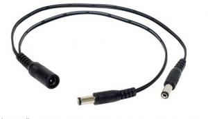 China DC power cable splitter-1 male to 2 female / DC Power Pigtail 1 in 2 out on sale