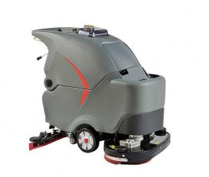 China Dual brushes 26inchs walk behind automatic floor scrubber cleaning machine on sale