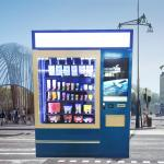 Shop 24 Self Service Egg Salad Fresh Milk Perfume Shampoo Oil Skin Care Products Vending Machines with Card Payment