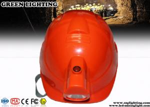 China ABS CREE LED Lights Helmet With 4000Lux Rechargeable Headlamp on sale
