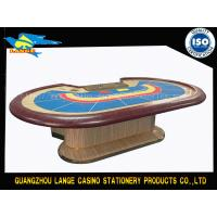 9 Person Mahogany PU Leather Armrest Casino Baccarat Table Gaming Galaxy Poker Table