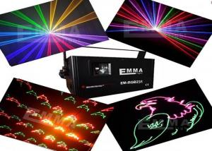 China 1W Rgb Animation Laser Light With Laser Fireworks Projector , Dj Laser Lighting on sale