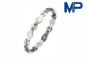 China Ladies / man Unisex Sports Titanium Steel Bracelets , Healthy Personalized Wristband on sale