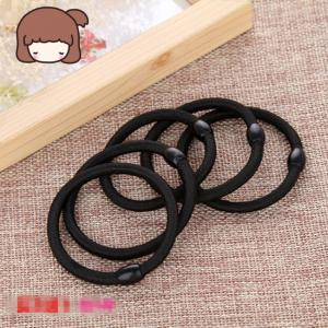 China Black Color Women Elastic Hair Tie Band Rope Ring Ponytail Holder Nylon Hair Style Head Band Accessories on sale