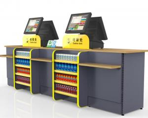 China Durable Cash Register Counter Stand , Retail Sales Counter Furniture on sale