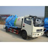 China Dongfeng Cummins Sewage Suction Tanker Truck / Vacuum Cleaner Truck 3CBM To 5CBM on sale
