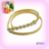 Middle East Ladies gold Metal Jewelry Corset Skinny Waist Belt OEM