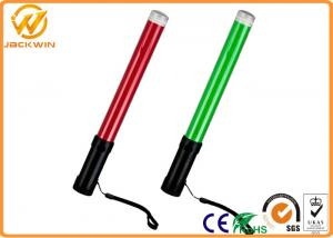 China Portable ABS Handle PC Pipe LED Traffic Baton with Three AA Chargeable Batteries on sale