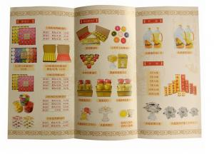 China OEM size factory prince full color a5 flyer accordion fold brochure leaflet printing on sale