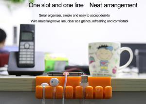 China Multi-function and multi-purpose Desktop Cable Organizer Eco-Friendly Silicone on sale