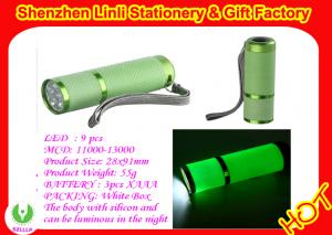 China  2011 competitive price  Aluminium alloy and silicone 9 led mini torch light  on sale