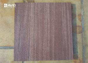 China Flamed Purple Sandstone Cladding Tiles For Exterior Walls In Golf Course / Luxury Villas on sale