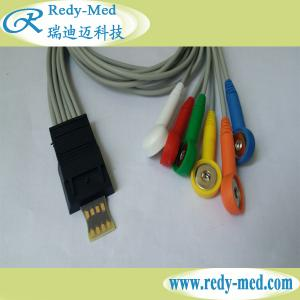 China Schiller MT-200 6lead holter cable,IEC,Snap on sale