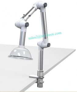 China US beauty salon flexble fume extraction arm, desk mounted fume exhaust, aluminum alloy fume arm on sale