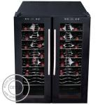 OP-A1001 Electric Direct Cooling Wine Two Glass Doors Display Cooler